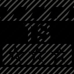 clapper, telesync, ts, video format icon