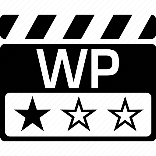 clapper, video format, workprint, wp icon