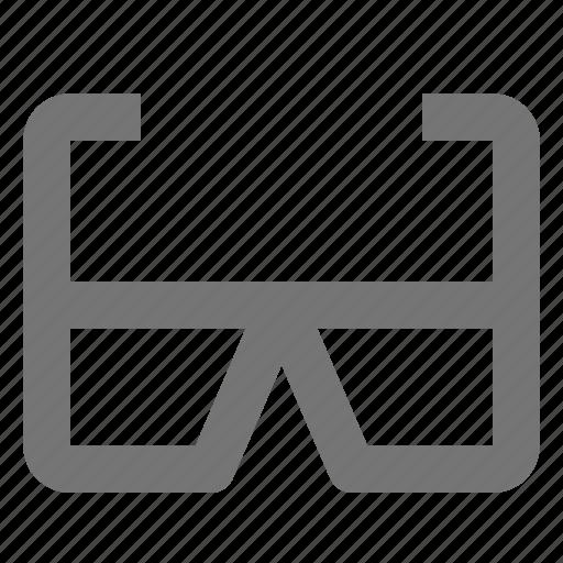 3d glasses, glasses, sunglasses icon