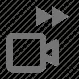 camera, fast forward, forward, movie icon
