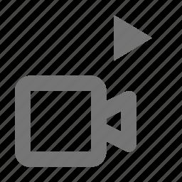 camera, movie, play, video icon