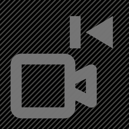 camera, movie, previous, video icon