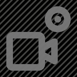 camera, movie, record, video icon
