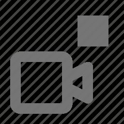 camera, movie, stop, video icon