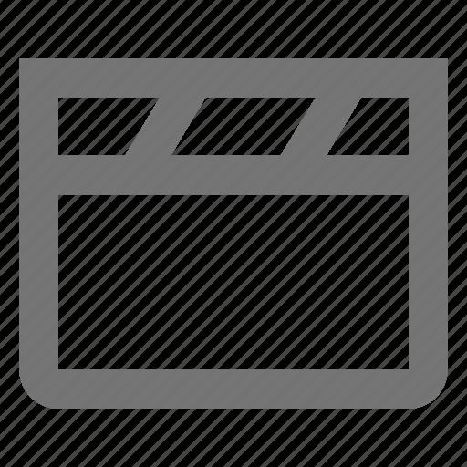 clapboard, media icon