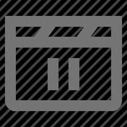 media, movie, pause, video icon