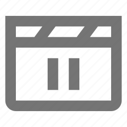 controls, film, media, movie, pause, settings, shoot, video icon