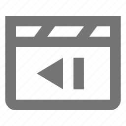 media, movie, previous, video icon
