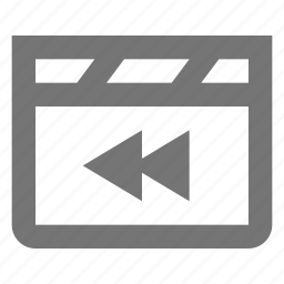 previous, rewind icon