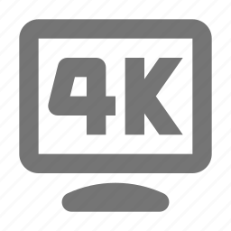4k, 4k resolution, resolution icon