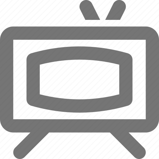 device, monitor, retro, screen, television, tv, vintage, watch icon
