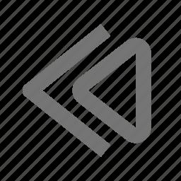 media, rewind icon