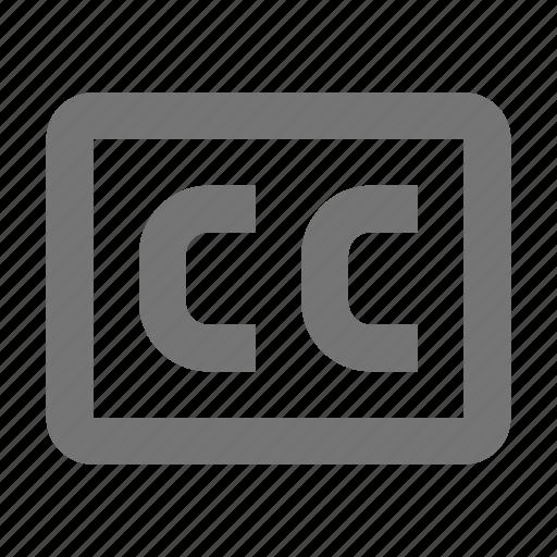 cc, closed captioned, controls, film, settings, subs, subtitle icon