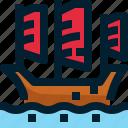 boat, cruise, halong bay, transport, travel, vehicle, vietnam icon