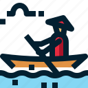 bay, boat, ha long bay, lake, rowboats, transport, vietnam icon
