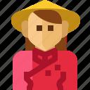 avatar, cloth, female, nation, person, vietnam, woman icon