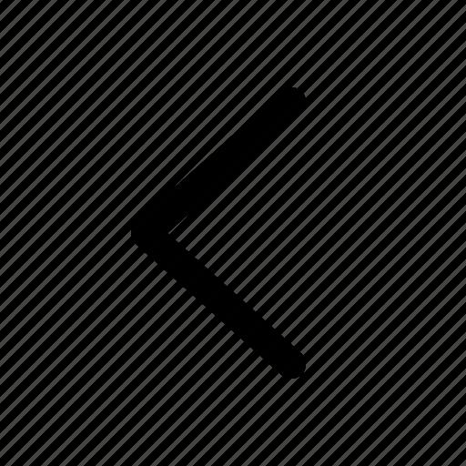 arrow, chevron, direction, left, navigation, previous icon