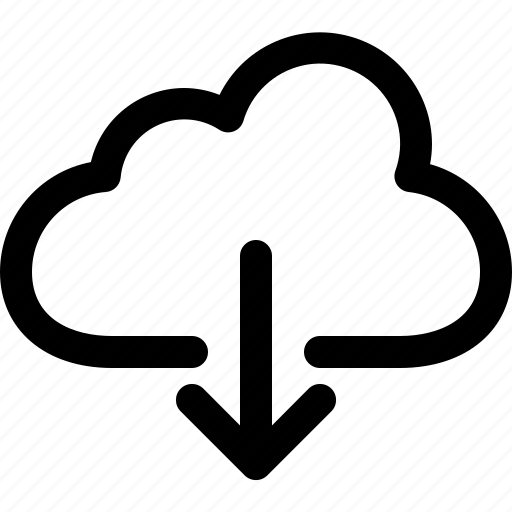cloud, data, download, import icon