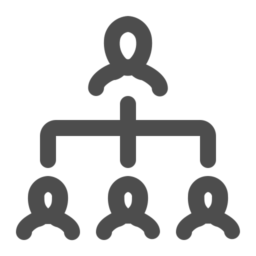 hierarchy, people, team, vertical icon