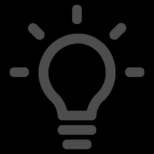 bulb, idea, light, thought icon