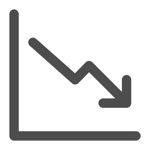 chart, diagram, down, linegraph icon