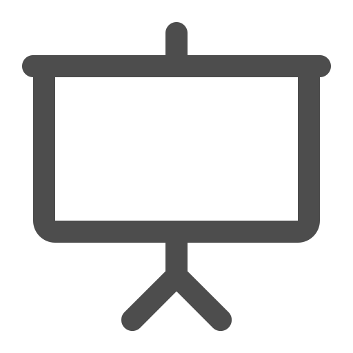 presentation, screen, show, silver screen icon