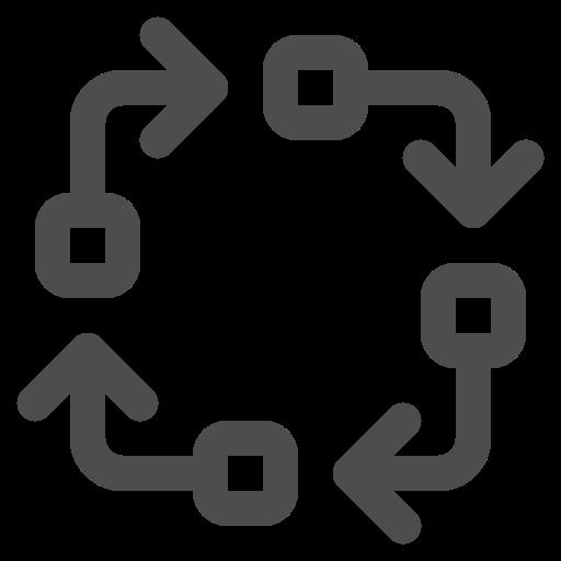 arrows, loop, phases, process icon