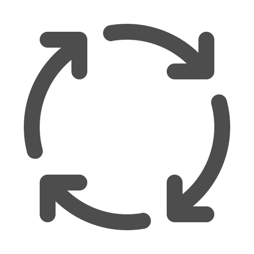 arrows, loop, process, round icon