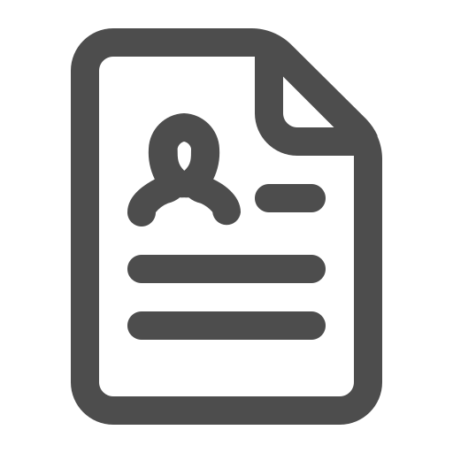 cv, document, resume, resumé, summary icon