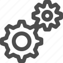 gears, machinery, mechanism, settings icon