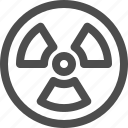 nuclear, radioactive, waste icon