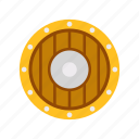 fancy, game, guard, medieval, shield, viking, weapon icon