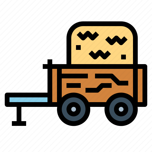 cart, transportation, wagon, western icon