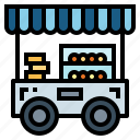food, stand, cart, fast