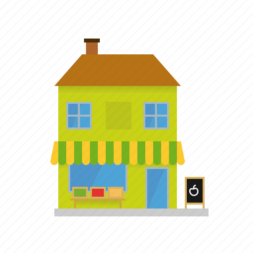 building, facade, grocery, house, shop, store, village icon