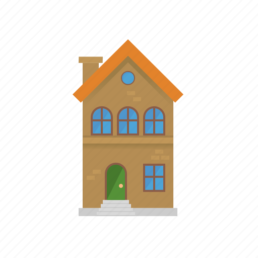 brick, building, facade, home, house, townhouse, village icon
