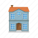 building, entrance, facade, home, house, townhouse, village icon