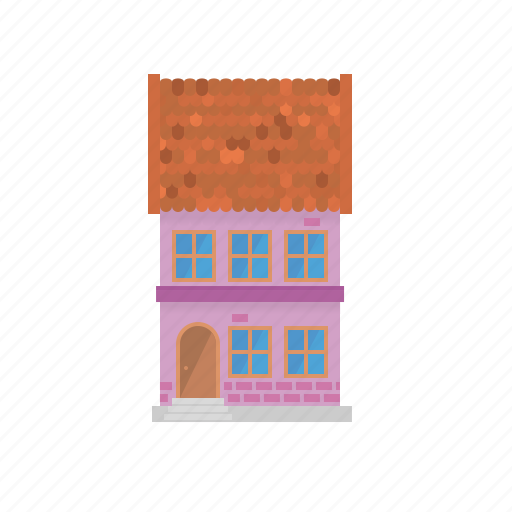 facade, home, house, old, shingle, townhouse, village icon