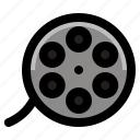 cinema, entertainment, film, filmstrip, movie, multimedia, strip icon