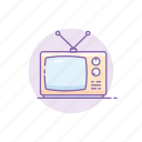 classic, gadget, retro, tech, television, tv, vintage icon
