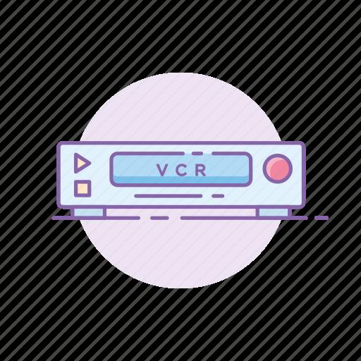 film, gadget, movie, player, retro, vcr, vintage icon