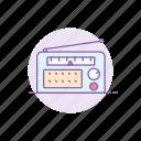 audio, gadget, player, radio, recorder, retro, tape icon