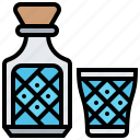 beverage, bottle, drink, glass, water icon