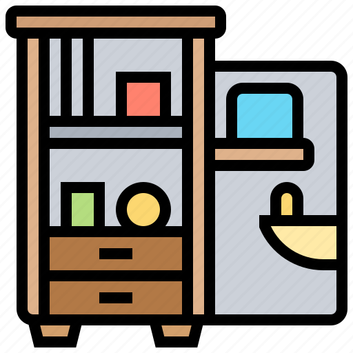cabinet, furniture, locker, storage icon