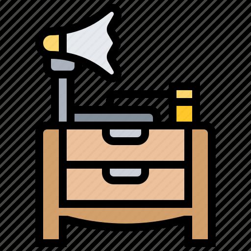 audio, radio, sound, table, vintage icon
