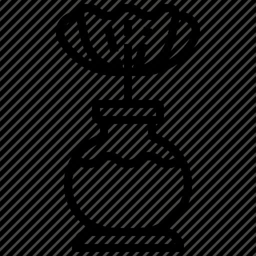 ceramic, decoration, flower, vase, vintage icon