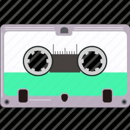 cassette, music, retro, sound, vintage icon