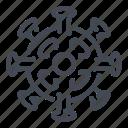 bacteria, corona, coronavirus, epidemic, infection, pandemic, virus icon