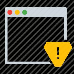 alert, application, interface, warning, window icon