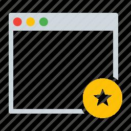 application, favorite, interface, star, window icon
